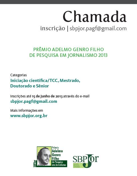 anúncio PAGF 2013