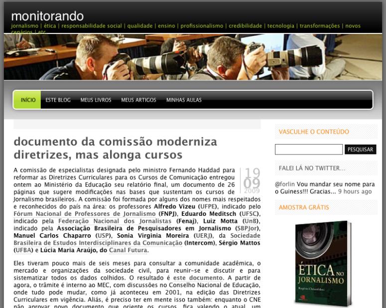2009: blogar era publicar para não perecer